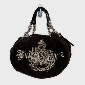 Vintage Juicy Couture Black Velour Mini Handbag Purse